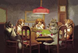 Dogs Playing Poker, Coolidge.